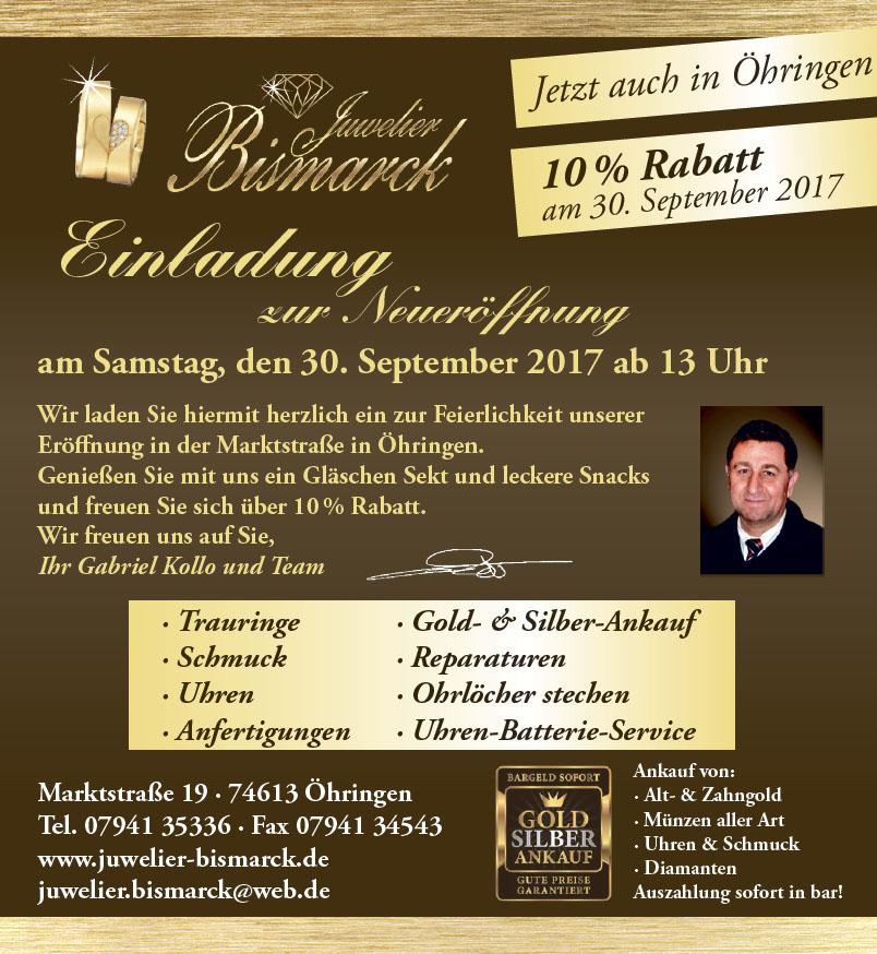 Neueröffnung in Öhringen